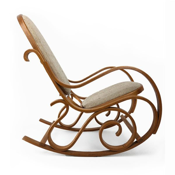 Upholstered Bentwood Rocking Chair