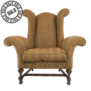 Oversized Scroll Style Wing Back Armchair
