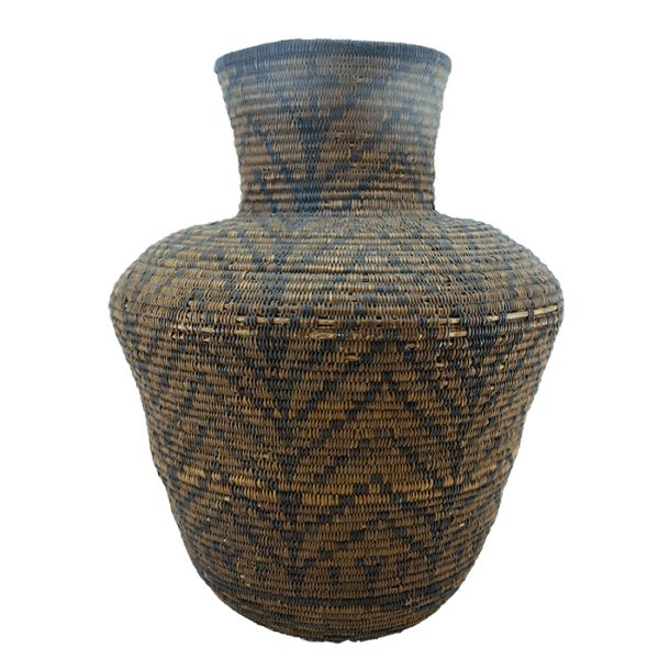 Alternate View of Antique Apache Olla Basket