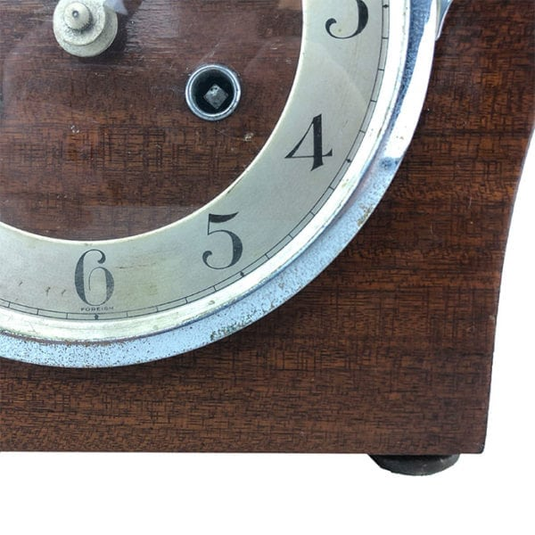 View of Blemish on Vintage Urgos German Art Deco Clock