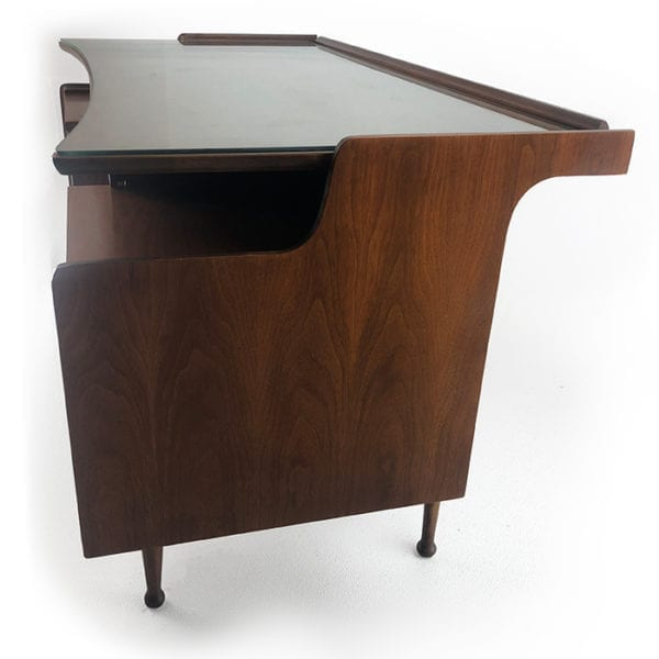 Mid Century Hooker Walnut Floating Desk