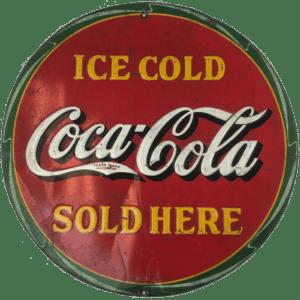 Vintage 1932 Metal Coca-Cola Sign